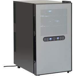 18 Bottle Black Dual Zone Wine Cooler thumb