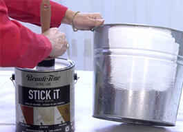 Here's How Stick iT primer sealer lets you paint almost anything.