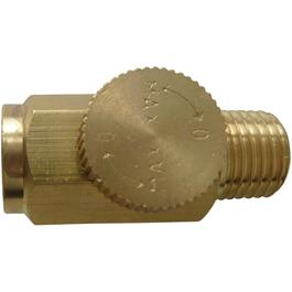 "1/4"" Female x 1/4"" Male National Pipe Thread Air Flow Regulator thumb"