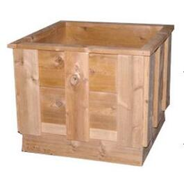 "18"" x 18"" Uncut Cedar Planter Package thumb"