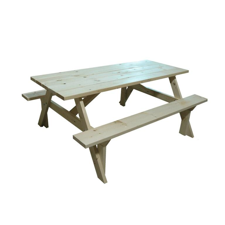Unfinished Pine Picnic Table Home Hardware - Unfinished wood picnic table