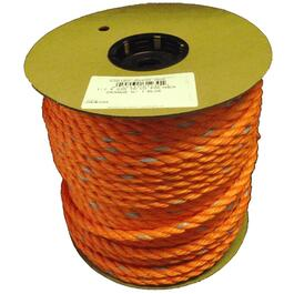 "1' x 1/2"" Orange Polymer Twisted Rope, per Foot thumb"