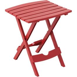 "15"" x 17"" Cherry Red Resin Folding Side Table thumb"