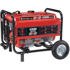 4,200 Watt Portable Gas Generator, with Wheel Kit thumb