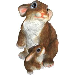 "12.5"" Rabbit and Baby Lawn Ornament thumb"