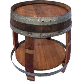 Round Wine Barrel End Table thumb