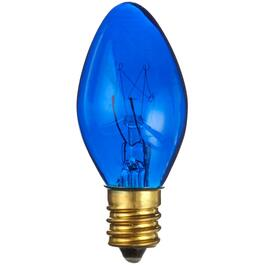 25 Pack Indoor/Outdoor Incandescent Blue C7 Sparkle Bulbs thumb