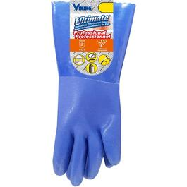 Ultimate Unisex Medium/Large Blue PVC Coated Work Gloves thumb