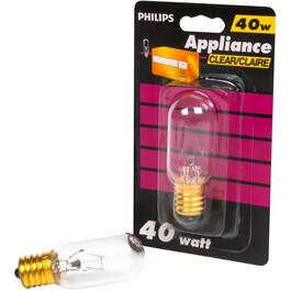40W T8 Intermediate Base Clear Appliance Light Bulb thumb
