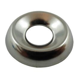 "10 Pack 1/4"" Nickel-Plated Steel Finish Washers thumb"