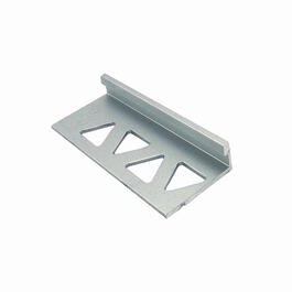 "1/4"" x 8' Clear Anodized Aluminum Tile Edging thumb"