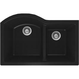 "31"" x 20 1/2""x 9"" Black One and Three Quarter Granite Undermount Sink thumb"
