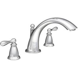 Caldwell 2 Handle 3 Hole Chrome Roman Tub Faucet thumb