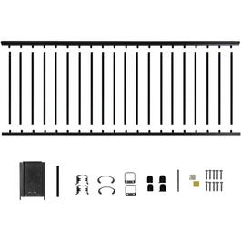 "8' x 42"" Black Aluminum Railing Kit thumb"