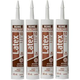 4 Pack 300mL White Latex Caulking thumb