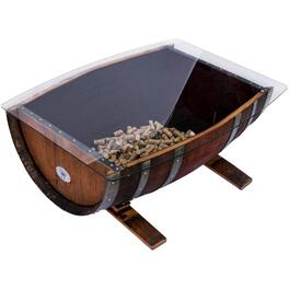 Rectangular Wine Barrel Cocktail Table thumb