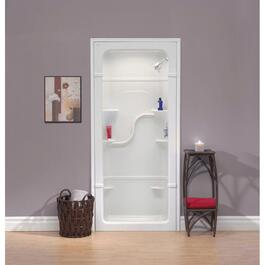 "3 Piece 38"" Right Hand White Acrylic Shower Cabinet thumb"