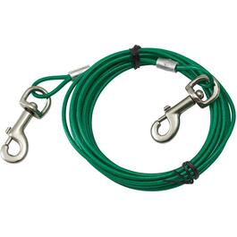 20' Heavy Duty Tie-Out Dog Cable, for Dogs Up to 80 lbs thumb