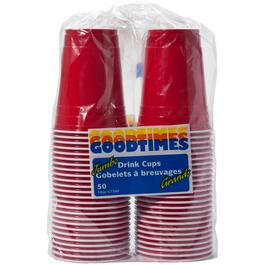 50 Pack 16oz Red Coex Plastic Cups thumb