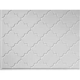 "18"" x 24"" Monaco Gloss White Backsplash Panel thumb"