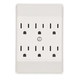 6 Outlet White Wall Tap thumb