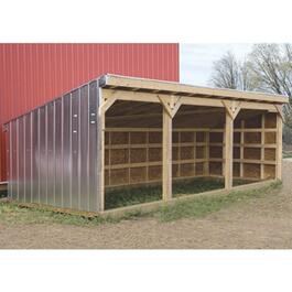 "10' x 20' x 8' 6"" Horse Shelter Package thumb"