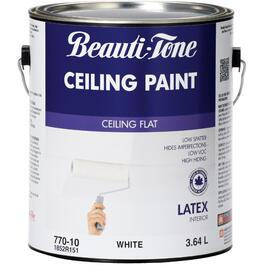3.64L White Interior Flat Latex Ceiling Paint thumb