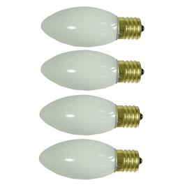 4 Pack Outdoor Incandescent White C9 Glow Bulbs thumb