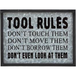 "16"" x 23.5"" Tool Rules Wall Plaque thumb"