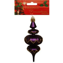 "5"" Plastic Purple Finial Ornament, Assorted Styles thumb"