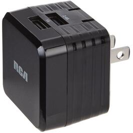 3.4AMP Ultra Fast USB Charger, with 2 USB Outlets thumb