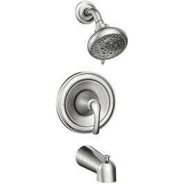 Tiffin Spot Resist Brushed Nickel Pressure Balance Tub and Shower Faucet thumb