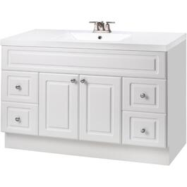 "48"" x 21"" Halifax White 2 Door 4 Drawer Vanity thumb"