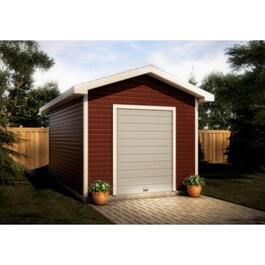12' x 16' Gable Shed Package, with Roll Up Door and Decorative Plywood thumb