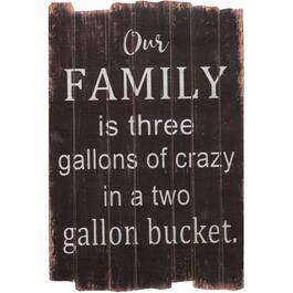"16"" x 23.5"" Our Crazy Family Wall Plaque thumb"