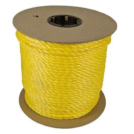 "1' x 1/4"" Yellow Twisted Polypropylene Rope thumb"