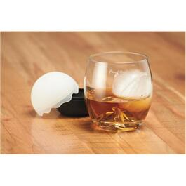 8oz Glass Double Old Fashion Tumbler, with Ice Mold thumb