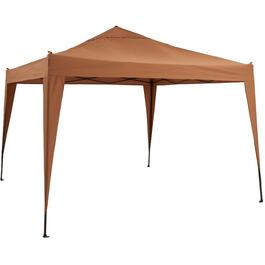 10' x 10' Taupe Folding Sun Shelter, with Carry Bag thumb