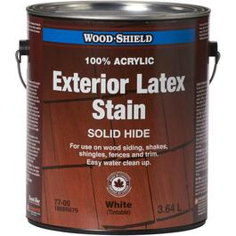 3.64L Solid White Latex Wood Stain thumb
