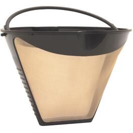 12 Cup Gold Tone Permanent Cone Coffee Maker Filter thumb