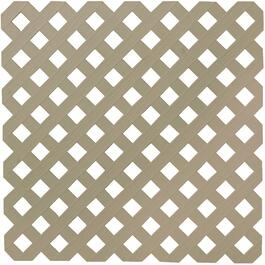 4' x 8' Khaki Diamond Vinyl Privacy Lattice thumb