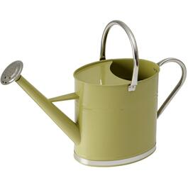 6L Galvanized Watering Can, with Brightly Coloured Green Body thumb
