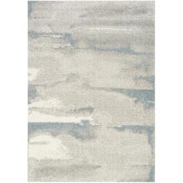 6' x 8' Sable Grey/Blue Marble Area Rug thumb