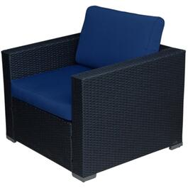 Solitude Wicker Club Chair, with Cushion thumb