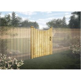 6' Pressure Treated Lawrence Privacy Gate Fence Package thumb