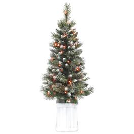 4' Frosted Potted Tree, with 70 Lights thumb