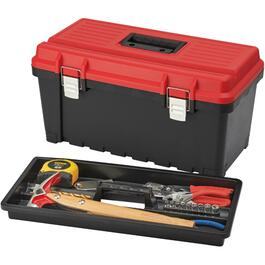 "21.65"" x 11.8"" x 11"" Tool Box, with Plastic Tray thumb"