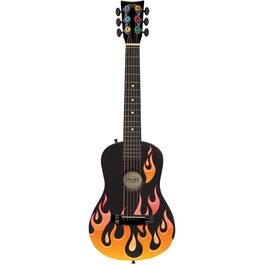 "30"" Acoustic Guitar, with Orange Flames thumb"