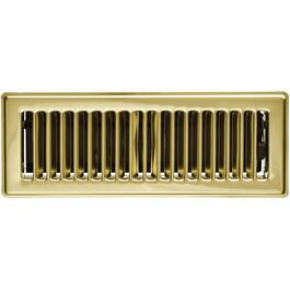 "3"" x 10"" Polished Brass Floor Diffuser thumb"