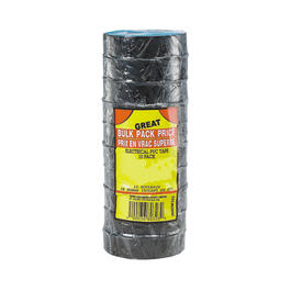 "10 Pack 7mil x 3/4"" x 60' PVC Black Electrical Tape thumb"